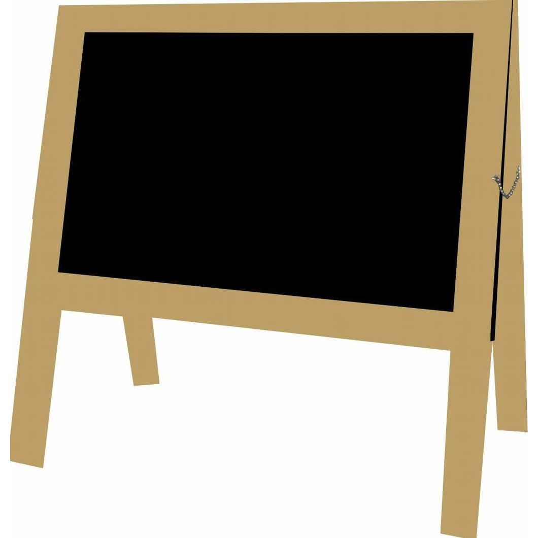 Outdoor Little Peddler Chalkboard Easel - Taupe - With Legs - Wide Orientation