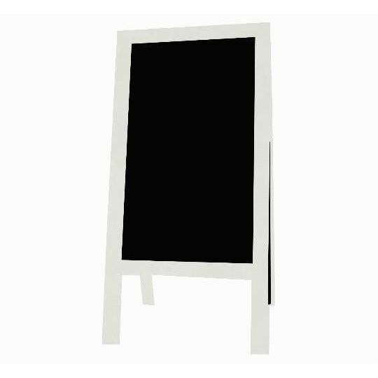 Outdoor Little Peddler Chalkboard Easel - White - Tall Orientation