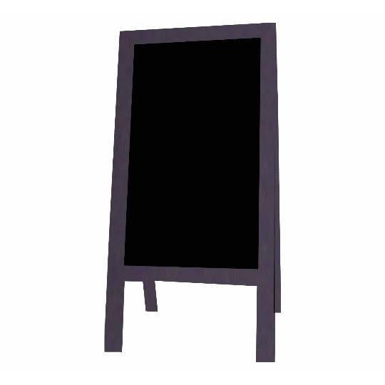 Outdoor Little Peddler Chalkboard Easel - Dark Grape - With Legs - Tall Orientation