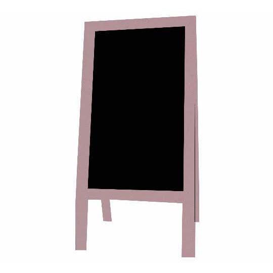Outdoor Little Peddler Chalkboard Easel - Pink Flamingo - With Legs - Tall Orientation