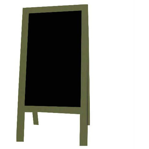 Little Peddler Chalkboard Easel - Spanish Olive - With Legs - Tall Orientation