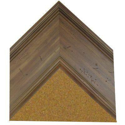 Cork Board with Wide Picture Frame - Aged Coffee Pine G8096