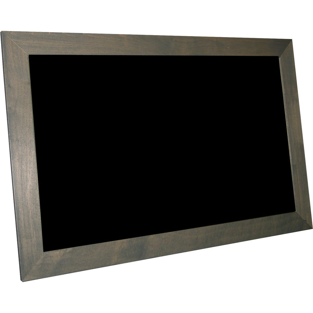 Outdoor Chalkboard with Stained Wood Frame