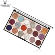Load image into Gallery viewer, Miss Rose Eyeshadow Palette 18 Colors Glitter
