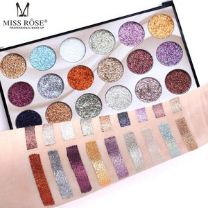 Miss Rose Eyeshadow Palette 18 Colors Glitter