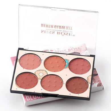 Miss Rose 6 color Blush Glow Kit