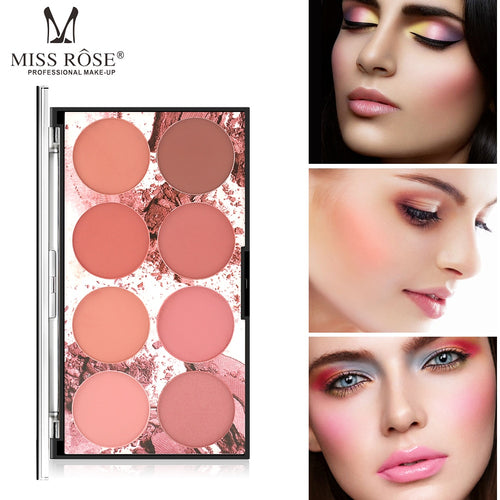 Miss Rose 8 Color Blush Palette