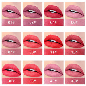 Set of 6 Matte Waterproof Lipsticks (Red)
