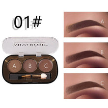 Load image into Gallery viewer, Miss Rose New 3 Color Eye Brow Powder