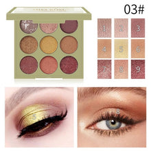 Load image into Gallery viewer, Miss Rose 9 Color Eyeshadow Palette