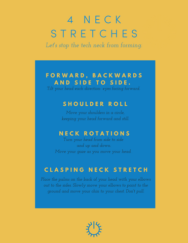 4 Neck Stretches Inphographic