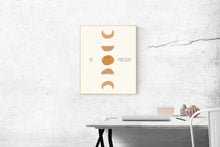 Load image into Gallery viewer, Be Present Quote - Moon Phases Wall Art - Digital Download - Set It Down