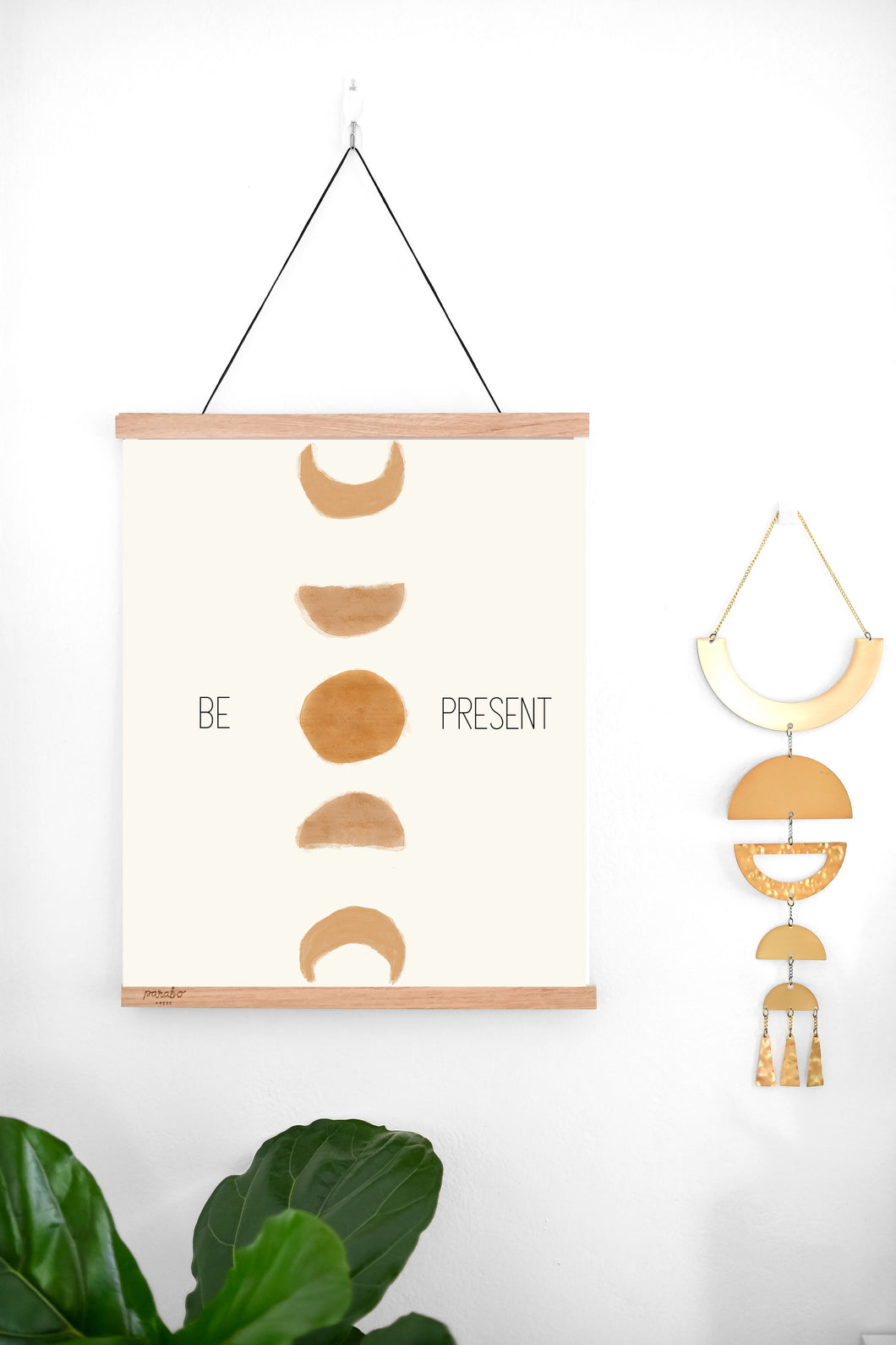 Be Present Quote - Moon Phases Wall Art - Digital Download - Set It Down