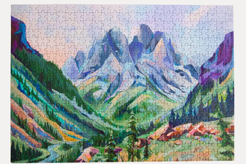 Lake Solitude Puzzle     500 Piece Jigsaw Puzzle - Set It Down - All Jigsaw Puzzles were painted by female artists.