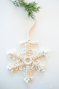 DIY Snowflake Macrame Kit - Set It Down