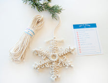 Load image into Gallery viewer, DIY Snowflake Macrame Kit - Set It Down