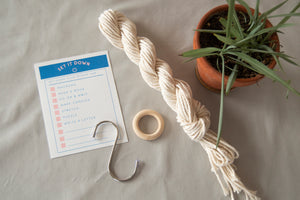 Macrame Kit for Plant Hangers. Comes with step-by-step instructions and all the materials needed.