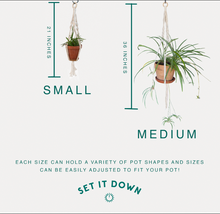 Load image into Gallery viewer, Our DIY Macrame kit comes in two sized- small and medium.