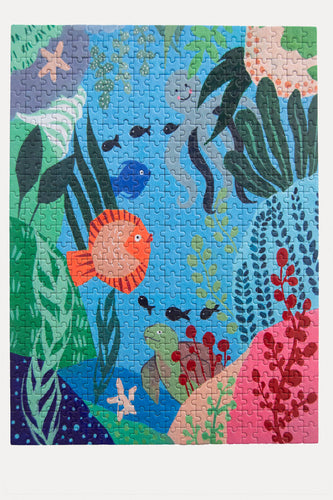 Underwater Puzzle     500 Piece Jigsaw Puzzle - Set It Down. Female artists crafted these beautiful jigsaw puzzles