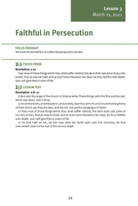 Faithful in Persecution Lesson 3 Adult Spring 2021 (Download)