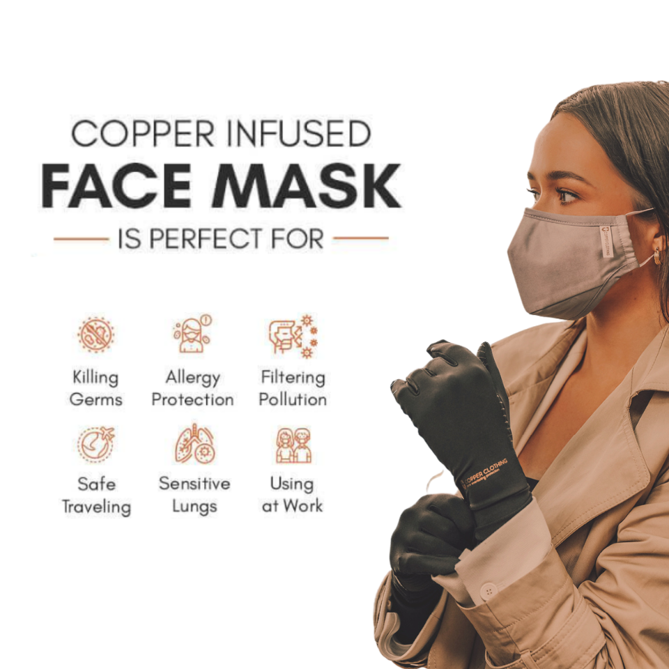 Four-Layer Copper Face Mask (Buy 3 for the price of 2)