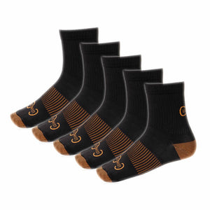 5-Pack Short Compression Copper Socks