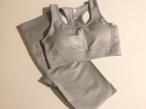 STORMY Crop Top - Silver Satin
