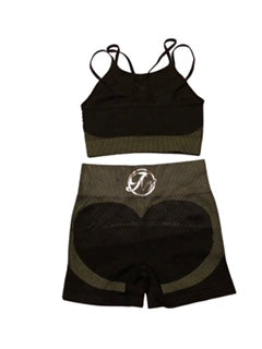 "Bossy 3"" Biker Short  ( Sports Bra & Top)"