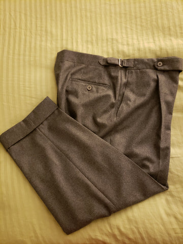 grey wool flannel Stoffa trousers