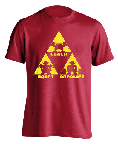 Fire Temple (red) TriForce Powerlifting T-shirt