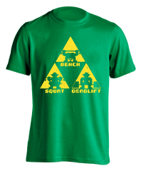 Forest Temple (Kelly green) TriForce Powerlifting T-shirt