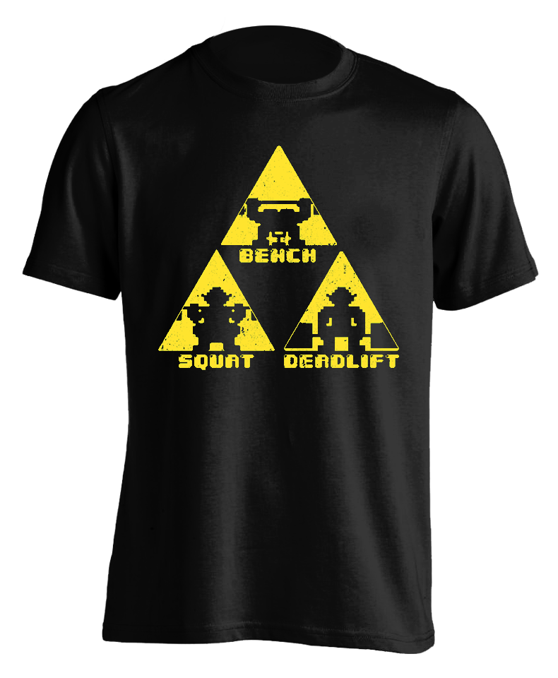 Shadow Temple (black) TriForce Powerlifting T-shirt