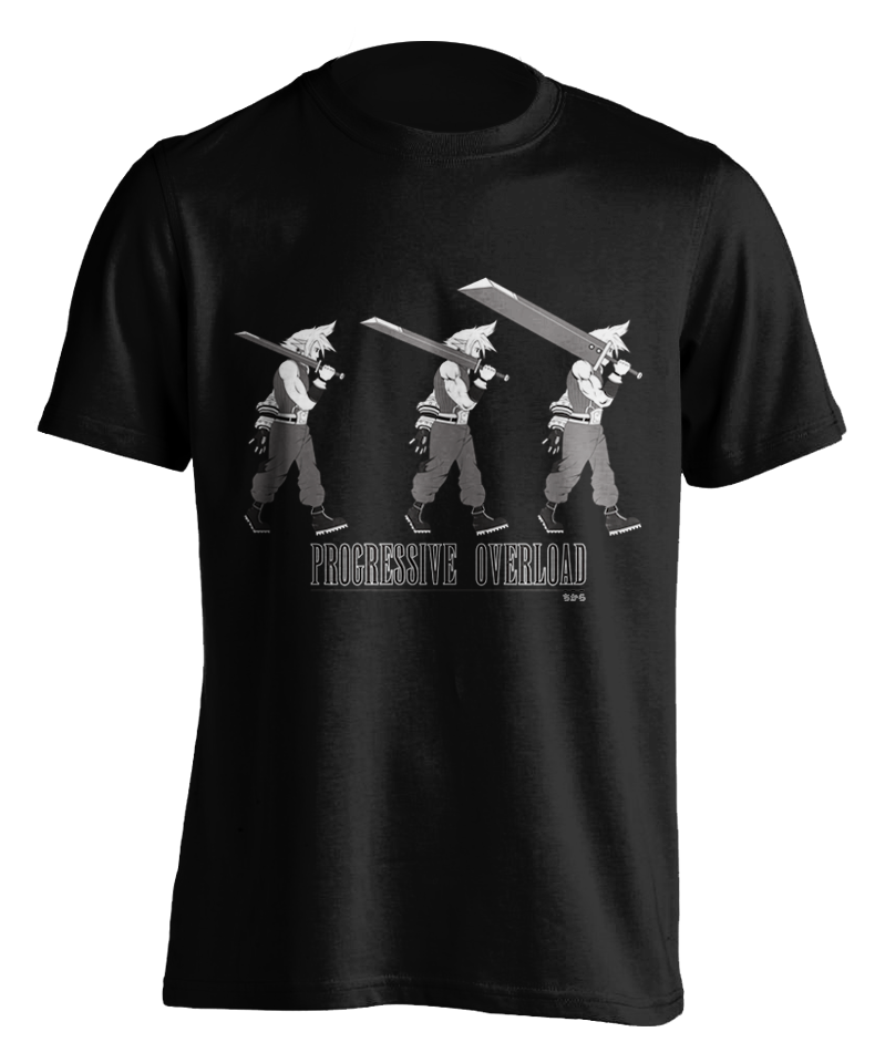 "black ""Progressive Overload"" T-shirt"