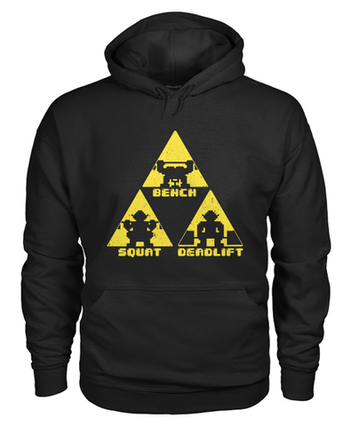 black TriForce Powerlifting pullover hoodie