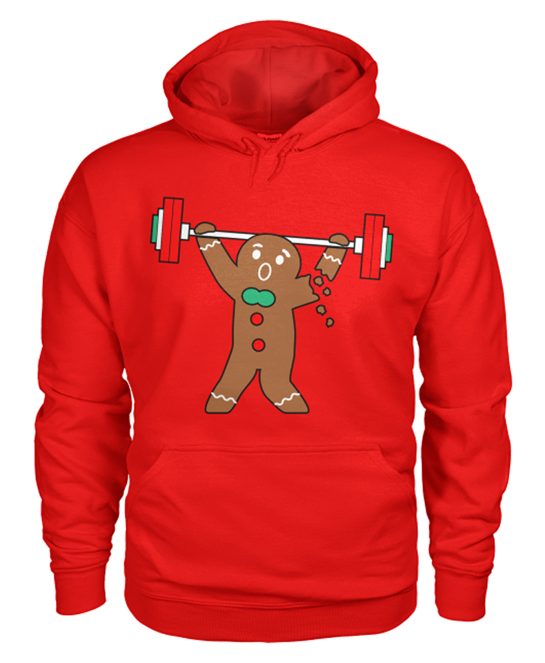 "red ""Ginger Snap"" pullover hoodie"