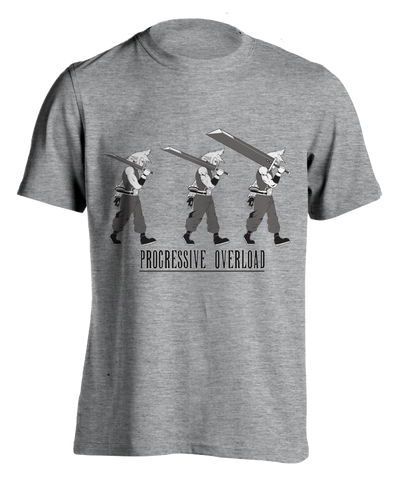 "grey ""Progressive Overload"" T-shirt"