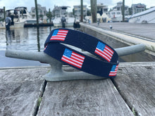 Load image into Gallery viewer, American Flag Needlepoint Belt