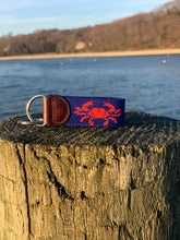 Load image into Gallery viewer, Crab Needlepoint Key Fob
