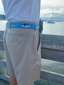 Saltwater Fish Needlepoint Belt