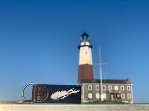 Long Island Needlepoint Key Fob