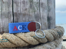 Load image into Gallery viewer, Nantucket ACK USA Needlepoint Key Fob