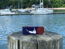 Load image into Gallery viewer, Nantucket USA Flag Needlepoint Key Fob