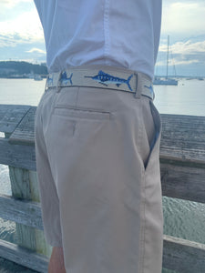 Needlepoint Sport Fish Belt