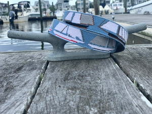 Regatta Needlepoint Belt