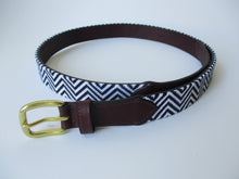 Load image into Gallery viewer, Aztec ZigZag Needlepoint Belt
