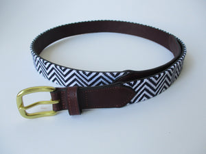 Aztec ZigZag Needlepoint Belt
