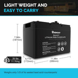 Renogy - 12v 100AH Smart Lithium Iron Phosphate Battery