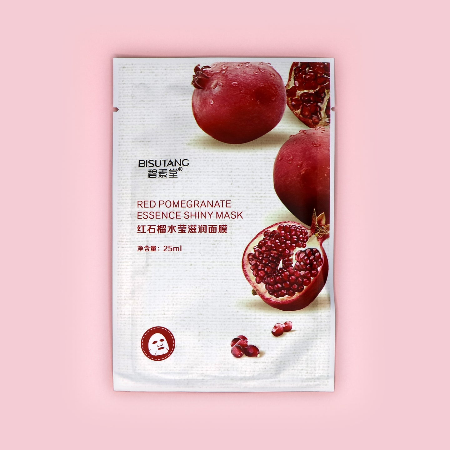 BISUTANG RED POMEGRANATE ESSENCE SHINY MASK