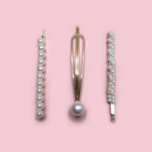 SMALL PEARL CLIPS 3 PACK