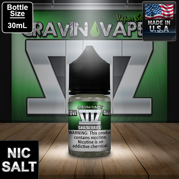 Cravin Vapes Snozberries  Salt Nic